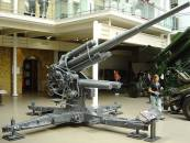 88 Flak Gun in Zimmerit, Imperial War Museum, London.