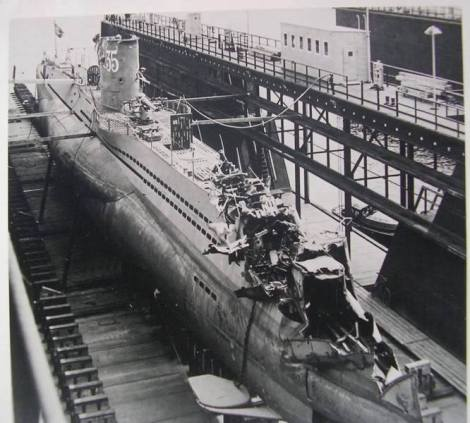 During a peacetime drill in 1938, her sister boat, U-30, was involved in a near-fatal collision with U-35.