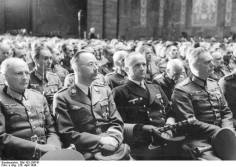 Heinrich Himmler, Donitz, and Keitel at the funeral of Colonel General Hans-Valentin Hube.