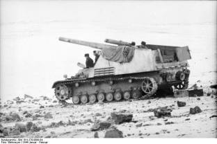 A Hummel in Russia, January 1944.