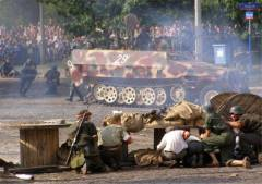 Re-enactment of the Uprising on its 62nd Anniversary.