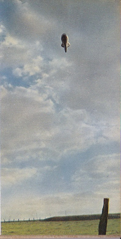 German artillery balloon above Flanders.