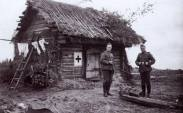 Cabin on the Eastern Front, as a makeshift hospital.