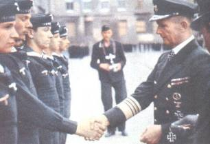 Dönitz during a award ceremony.