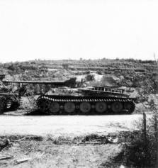 King Tiger tanks in northwestern France, July 1944.