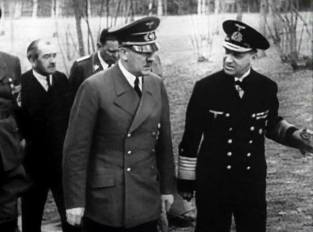 Grand Admiral Erich Raeder with Hitler.