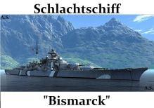 Schlachtschiff Bismarck.