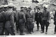 Himmler and adjutants.