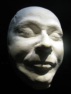 Death mask of Himmler on display in the Imperial War Museum in London.