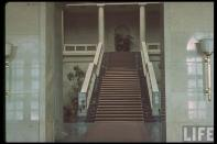 Staircase leading to main floor; the Führerbau 1940.