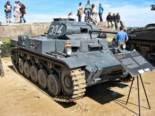 Panzer II on display.