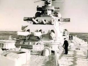Cold winter on the Battleship.