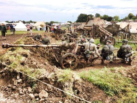 75mm PAK 40 Anti-Tank Gun at the 2014 War and Peace Revival Event – England.