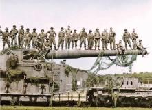 Captured German railway gun.