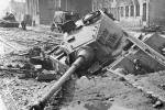 Knocked Out Tiger 2 that sunk into the street!
