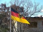 Bundesdienstflagge at the German Embassy, Canberra.