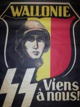 Wallonia or part of Belgium recruiting poster for the SS.