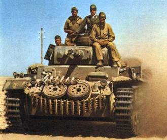 Panzer III of the Afrika Korps.