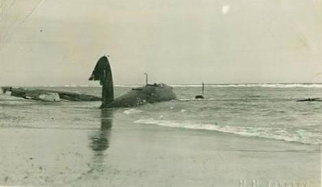 Crashed Heinkel 111.