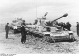 Panzer IVs in the mud.