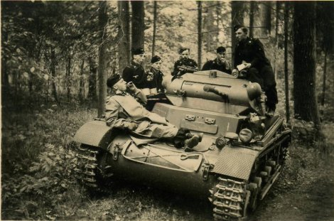 Resting with their Panzer.