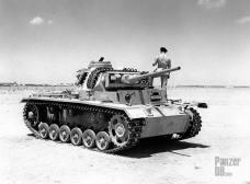 Captured Panzer III in North Afrika.