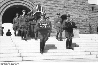 Funeral of General Günther Korten at the Tannenberg Memorial.