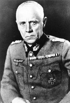 Generaloberst Ludwig August Theodor Beck (29 June 1880 – 21 July 1944) was a German general and Chief of the German General Staff during the early years of the Nazi regime in Germany before World War II. Ludwig Beck was never a member of the Nazi Party, though in the early 1930s he supported Adolf Hitler's forceful denunciation of the Versailles Treaty and belief in the need for Germany to rearm. Beck had grave misgivings regarding the Nazi demand that all German officers swear an oath of fealty to the person of Hitler in 1934, though he believed that Germany needed strong government and that Hitler could successfully provide this so long as he was influenced by traditional elements within the military rather than the SA and SS.