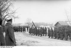 Field Marshal Günther von Kluge reviews the Vichy French LVF (638. Infanterie-Regiment) in Russia during Operation Barbarossa, November 1941.