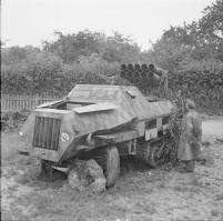 Destroyed Panzerwerfer.