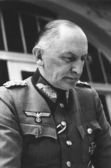 Job Wilhelm Georg Erdmann Erwin von Witzleben (4 December 1881 – 8 August 1944) was a German officer, by 1940 in the rank of a Field Marshal (Generalfeldmarschall), and army commander in World War II. A leading conspirator in the 20 July plot, he was designated to become commander-in-chief of the Wehrmacht armed forces in a post-Nazi regime.