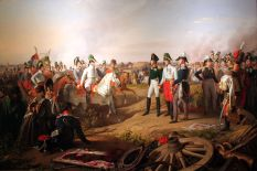 Frederick III of Prussia, Alexander I of Russia and Francis II of Austria after the battle of Leipzig, 1813.