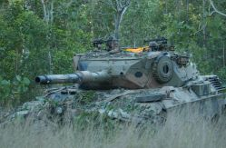Australian Army Leopard 1A4 (AS1) on exercise.
