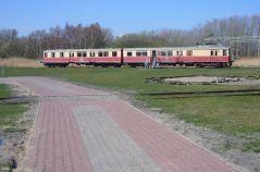 Former Peenemünde railbus in the open air site.