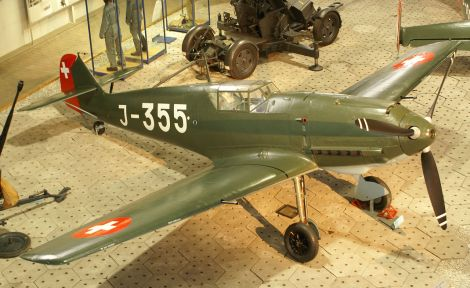 A Bf 109-E3 of the Swiss Air Force at the Flieger-Flab-Museum.