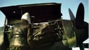 Hungarian mechanics servicing the DB 601 engine of a Bf 109 F-4.