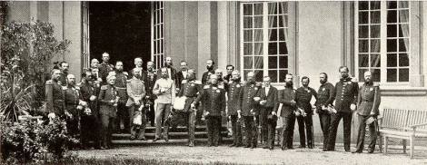 The monarchs of the member states of the German Confederation meet at Frankfurt in 1863.