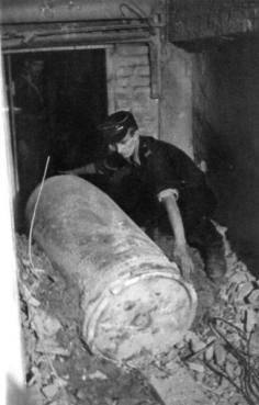 A dud shell fired during the Warsaw Uprising.