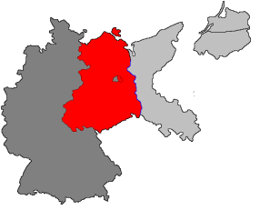 Germany defeated: On the basis of the Potsdam Conference, the Allies jointly occupied Germany west of the Oder–Neisse line.