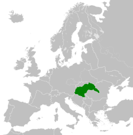 Extent of the Kingdom of Hungary in 1942.