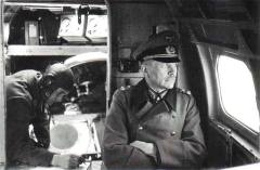 Guderian being transported to the eastern front, 1943.