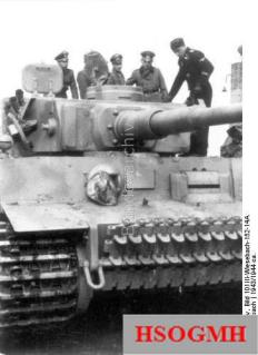 Officers during inspection Panzer Tiger I.