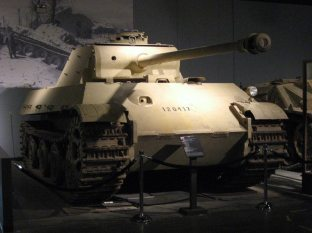 Panther II on display at Patton Cavalry and Armor Museum, Fort Knox, KY. The turret on display was not originally fitted to this hull and was installed later.