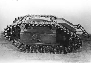 The Goliath remote-controlled tracked mine.