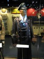 Manteuffel's leather coat on display at the Bastogne Historical Center.
