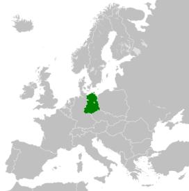The German Democratic Republic in 1990.