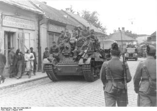 Hungarian armor and infantry in retreat, August 1944.