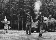 Peiper's troops of the 1st SS on the road to Malmedy.