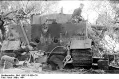 Tiger 1 under repairs.
