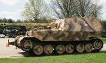 German Heavy Tank Destroyer - Elefant- Panzerjäger Tiger (P) Sd. Kfz. 184. Elefant on a U.S. Base. Inoperable, but only one of two left over.